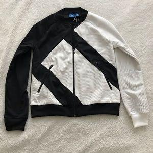 Adidas Originals Black and White Zip Up